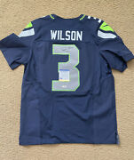 Russell Wilson Signed Nike Authentic On Field Jersey Psa/dna Coa Size 44