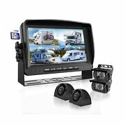 Backup Camera System With 9andrsquoandrsquo Large Monitor And Dvr For Rv Semi Box Truck Tra...