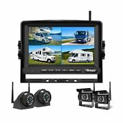 Wireless Backup Camera Dvr For Rv Truck Trailer Pickup With Monitor Back Up C...