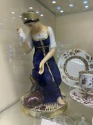 Exclusive Russian Imperial Lomonosov Porcelain Figurine Girl With Broken Pitcher