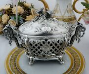 19th Century French Sterling Silver Large Candy Box