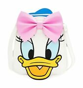 Loungefly Donald And Daisy Duck Double Sided Mini Backpack Standard White