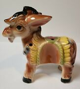 Vintage Ceramic Thames Donkey Figurine Hand Painted Made In Japan