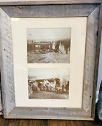 Civil War Matted Framed Photos Artillery And Cannon Union And Confederate Armies