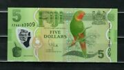 Fiji 5 Dollars Unc 2013 P-115 Polymer Replacement Banknote
