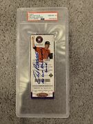 Andy Pettitte Signed Rare Final Game Ticket New York Yankees 9/28/2013 Astros