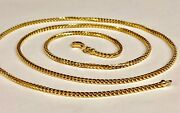 18kt Solid Gold Franco Curb Box Link 28 2 Mm 19 Grams Pendant Chain Necklace