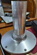 Garelick 75911-30 Anodized Aluminum Fixed 11 Inch Boat Seat Pedestal Post Base