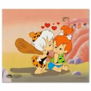 Flintstones Limited Edition Sericel With Official Seal Pebbles And Bam Bam