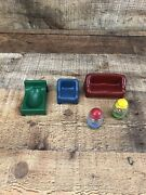 Vintage Weebles Haunted House Furniture And Weebles