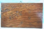 Vintage Primitive Wood Burning Carving Project Farm Scene Sheep In Pasture 7x12
