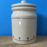 Hartstone Provincial Posy Country Kitchen Canister W/ Lid Heart Flower 7.5 Usa