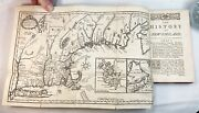 Rare - 2 Vol Complete Book Set - History Of New England By Neal 1747 With Map