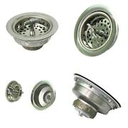 3-1/2 In. - 4 In. Kitchen Sink Spin And Seal Stainless Steel Drain Assembly With