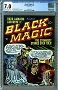 Black Magic 6 Prize 9/1951 Cgc 7.0 Ow/w Beauty Rare Kirby Cover