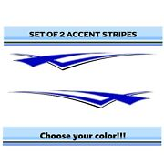 2 Rv Car Truck Pontoon Boat Trailer Side Accent Decals Graphics Stripes St51