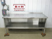 72 X 30 Stainless Steel Heavy Duty Work Table Kitchen Cabinet 6'