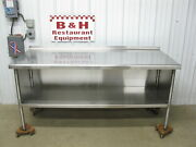 72 X 30 Stainless Steel Heavy Duty Work Table Kitchen Cabinet 6and039