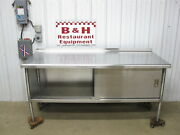 72 X 30 Stainless Steel Heavy Duty Work Table One 1 Door Kitchen Cabinet 6and039