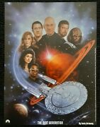 1999 Star Trek The Next Generation Paperboard Poster By Keith Birdsong 12x16