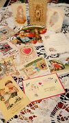 25 Antique St. Valentine's Cards Postcards Honeycomb Early 20th Century.