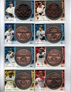 2013 Topps Update Pennant Chase Copper Coins Complete Set /50 Rare