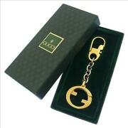 Keychain Keyring Vintage Double G Used L24h5513 Used From Japan Ems