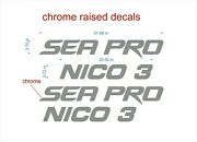 Sea Pro Boat Emblems 32 + Boat Name Chrome + Free Fast Delivery Dhl Express