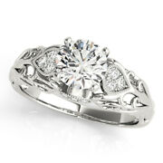Real 0.75 Ct Diamond Women Engagement Ring 14k Solid White Gold Rings Size 5 6 7