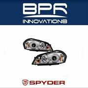 Spyder Auto Led Projector Chrome Headlights For Chevy Impala Monte Carlo 5031709