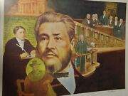 Charles H Spurgeon - Color Collage Print Of His Life- By Artist Ron Adair 19x23