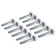 Pack Of 12 2 Nylon Rollers, 6200zz Bearing And 4 Stem For Weather Protection