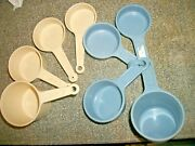 2 Sets Of 5 Vintage Rubbermaid And Action Plastic Measuring Cups - Usa