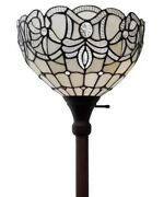 72 Antique Style White Amora Torchiere Lamp Lamps Torch Floor