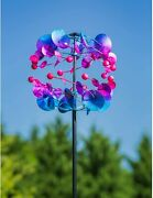 Unique Metal Wind Spinner Kinetic Outdoor Lawn Garden Decor Patio Stake Yard Art