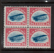 Usa C3 Mint Fine - Very Fine Never Block - Right Two Stamps Are Straight Edge