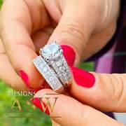 Huge 4.50 Carat 14k Solid White Gold Round Cut Forever One Moissanite And Natura