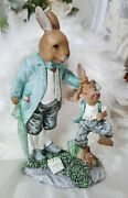 Easter Bunny Rabbit Easter Shabby Vintage Decoration 7 1/2in