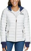 New Womenand039s Packable Light Puffer Jacket S M Or L White Or Blue