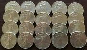 2012 Silver Eagle 1 Roll Of 20 Coins Gem Uncirculated.