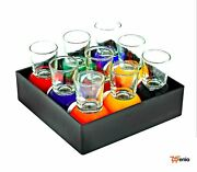 Billiards Pool Ball Shot Glasses Removable Sport Bar Drink Gift X9 - Rsenio