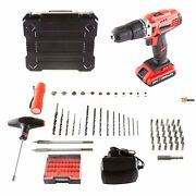 Hammer Drill Tool Kit 2 Speed Accessory 20v 62 Pc - Rsenio