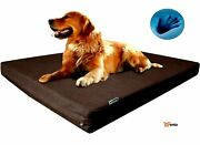 Large Waterproof Orthopedic Dog Bed 48x30 Crate Style Brown - Rsenio