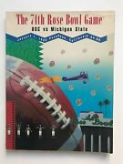 74th Rose Bowl Game 1988 Usc V. Michigan State Program And Ticket