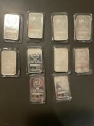 10, 5 Troy Ounce Silver Towne Bars .999 Sealed In Pack, Serial Numbers On Bars