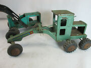 Vintage 1950and039s Marx Pressed Steel Loader And Power Grader Construction Toy Lot