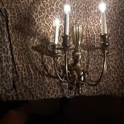 Colonial Williamsburg Federal Style 20x15 X-large 4 Candle Brass Wall Sconce