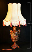 French Signed Landeacuteopold Oudry C1870 Bronze Two-handled Urn Panelled 4 Footed Lamp
