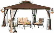 Sunjoy L-gz798pst-e-a New Regency Iii Gazebo 10and039 X 12and039 With Mosquito Netting Br