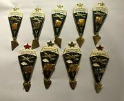 9 Ussr Soviet Union Russia Badge Army Military Airborne Paratrooper Wings 1980s